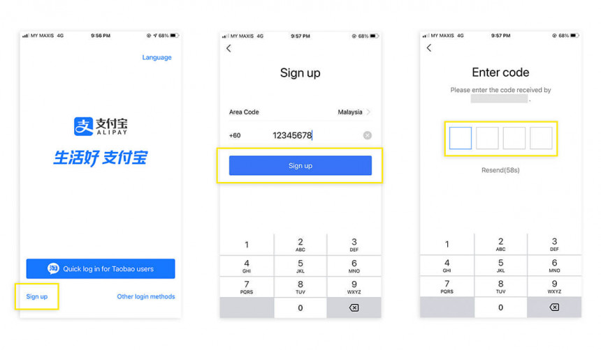 How To register Alipay account in Malaysia?